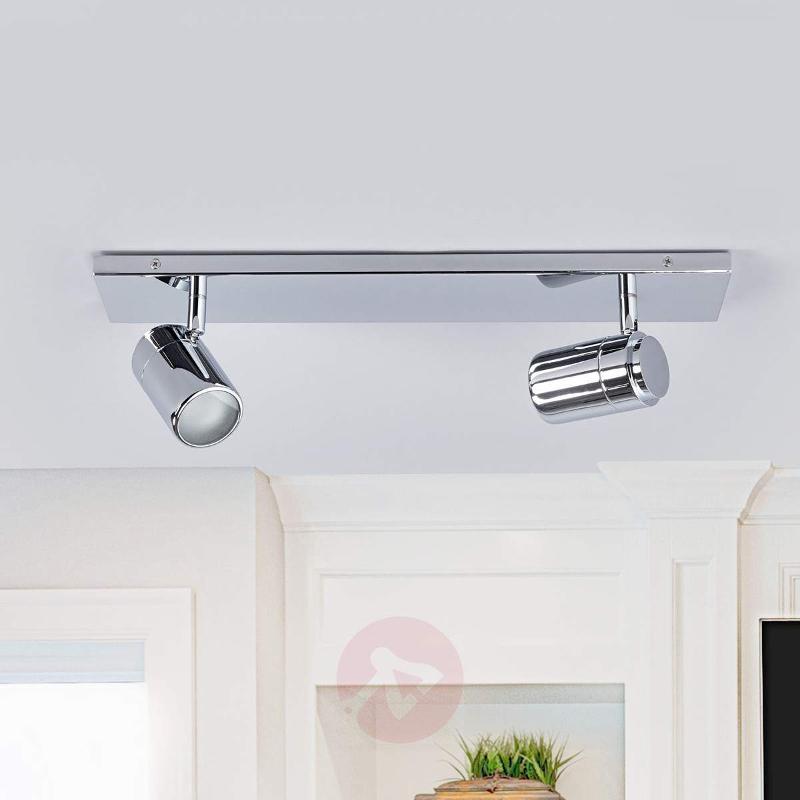 Dejan bathroom wall light in chrome, two bulbs - Ceiling Lights