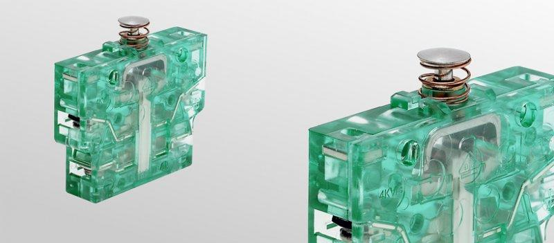 Snap-action switches, S850 - Snap-action switches, Double NC contact switch with 4 terminals
