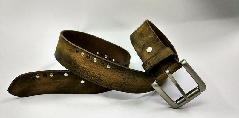 Leather belt - unisex hand Padded indian leather belt