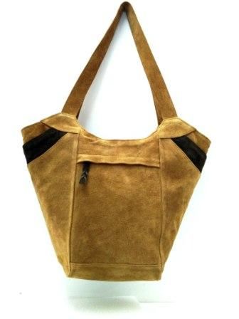 Leather Tote Bag - Suede Leather Tote bag