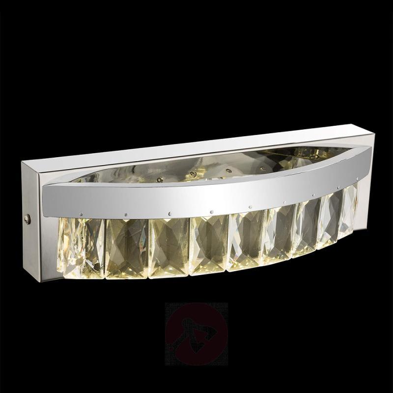 Slightly curved LED crystal wall light Febe - indoor-lighting