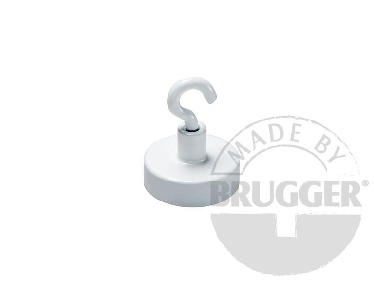 Decoration magnet, hard ferrite, white lacquered - null