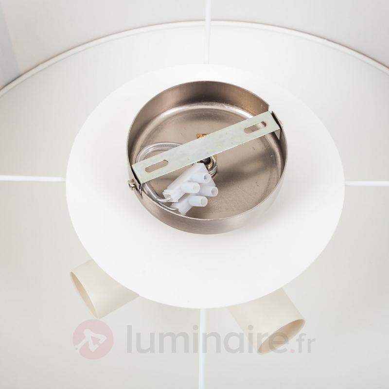 Plafonnier LED Gala avec abat-jour en tissu blanc - Plafonniers en tissu