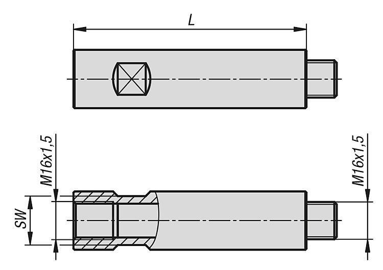 Broches rallonges pour stabilisateur de pièce - Éléments d'appui et de support