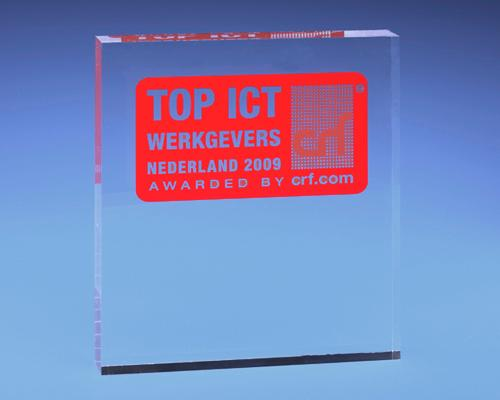 Trophées & tombstones en Plexiglas  - Trophée type: Award bloc 7