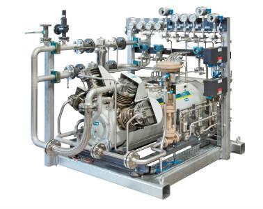 TOG oil-free and gas-tight piston compressor