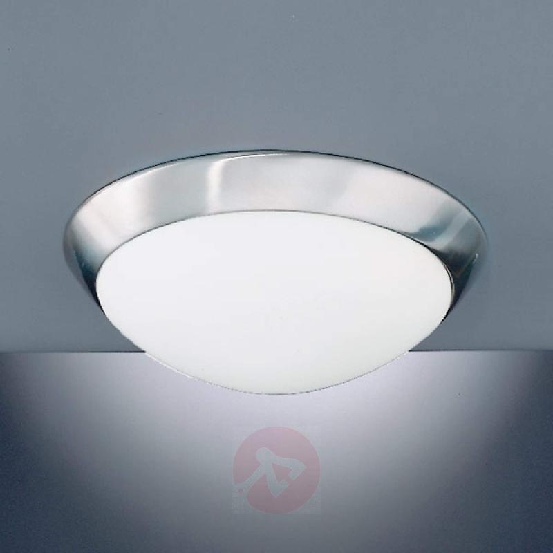 Katrin Ceiling Light Pretty Nickel Matte IP44 - design-hotel-lighting
