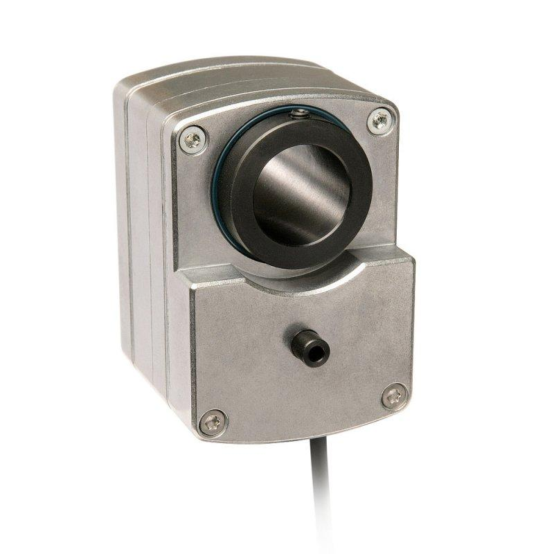 Geared potentiometer GP09 - Geared potentiometer GP09 , Robust housing with through hollow shaft