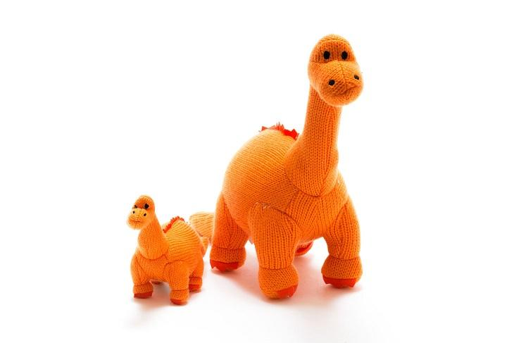 Knitted Dinosaurs - Knitted Dinosaur Toys, Teethers and Rattles