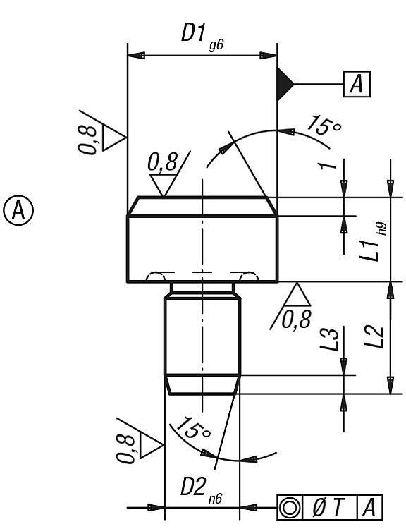 Pied lisse et cimblot DIN 6321 (Version 1973) - Appuis et pieds de position