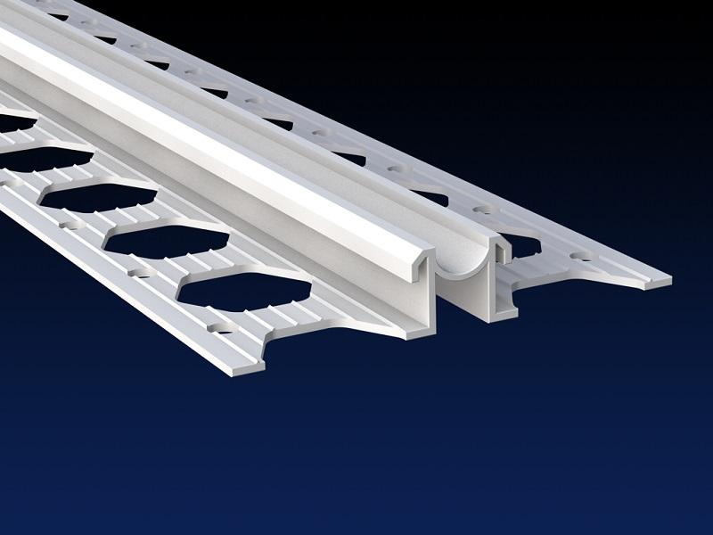 Renderplas PVC movement joint / expansion bead - PVC movement joints / expansion joint beads for rendering and plastering