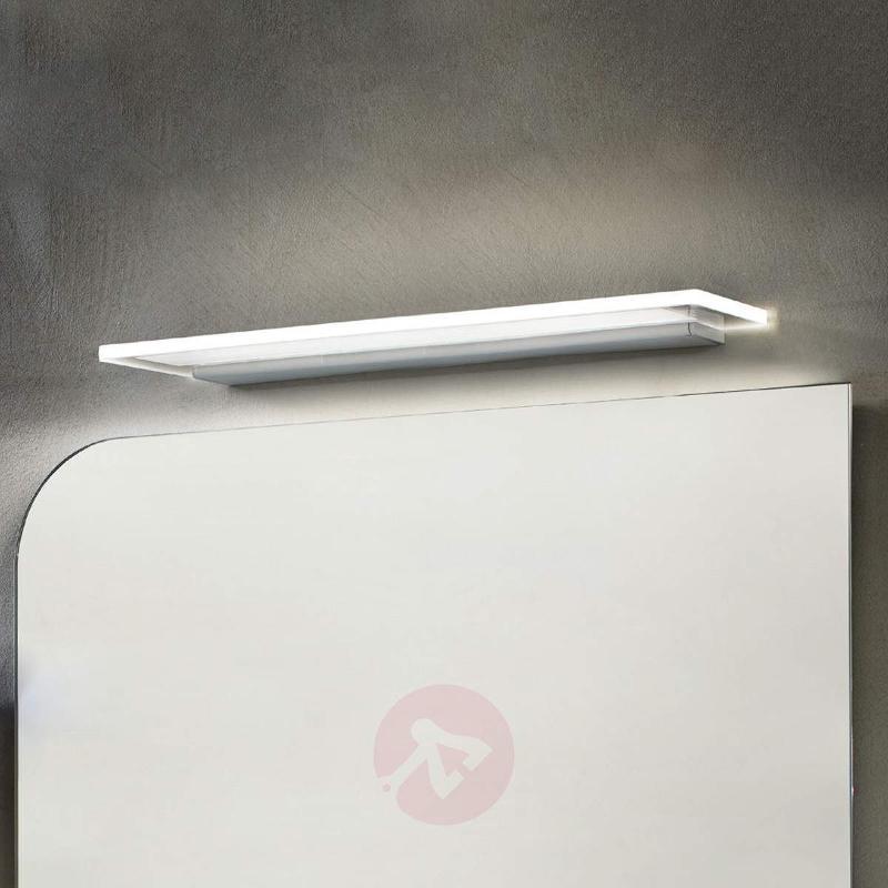Glossy aluminium Skinny LED wall light with IP44 - Wall Lights