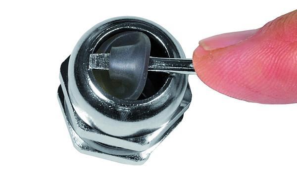 WADI one pressacavi in ottone - in ottone nichelato con filetto metrico M12 - M63