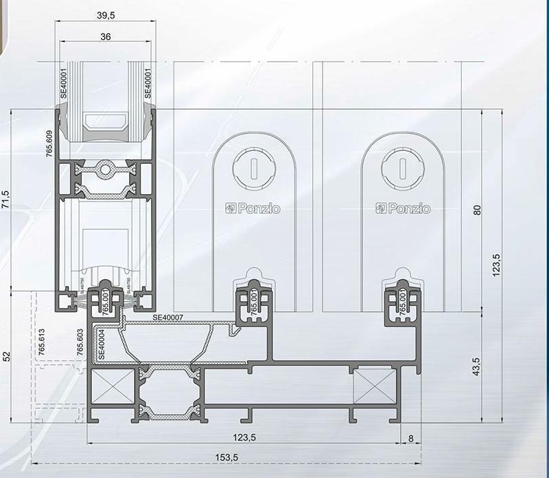 sliding-systems ponzio sliding-600tt-evo - aluminium-joinery