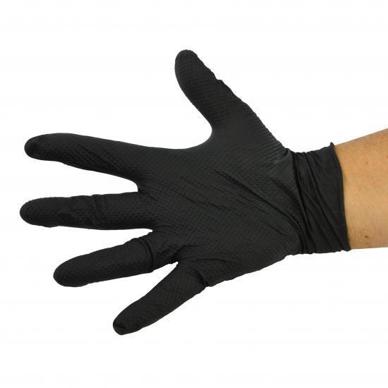 Gant nitrile noir très résistant avec picots Réf. : PGNPICO - Protection individuelle EPI