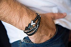 Beaded Bracelet - Hematite