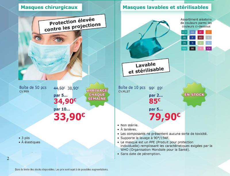 Masques chirurgicaux, lavables ou réutilisables - null