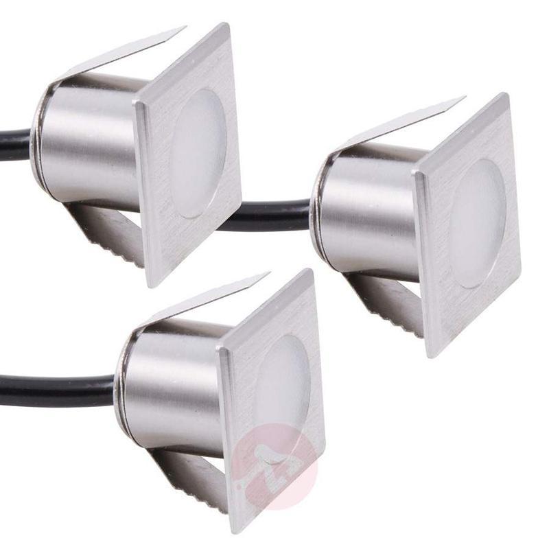 Set of three Würzburg LED recessed floor lights - Recessed Floor Lights
