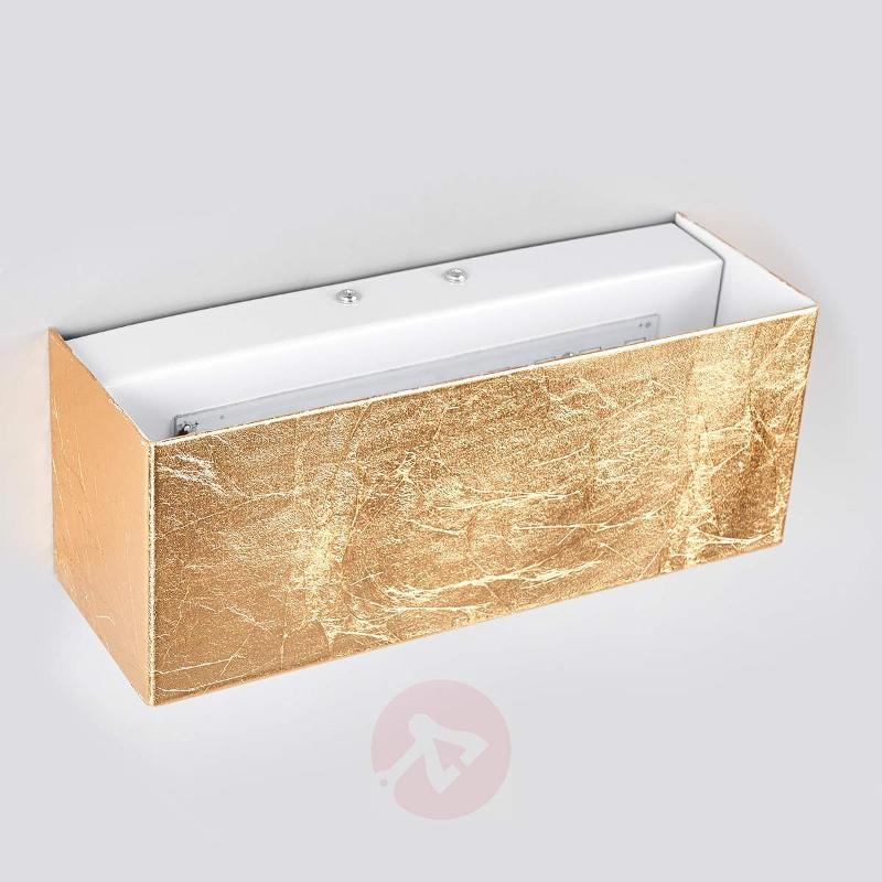 Gold-coloured LED wall lamp Quentin - Wall Lights