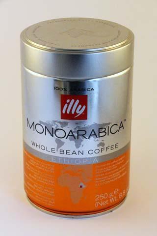 Illy Whole Bean Coffee Ethiopia -