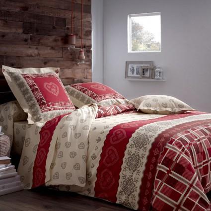 Linge de lit : draps, taies, alèses - linge de lit imprimé coton