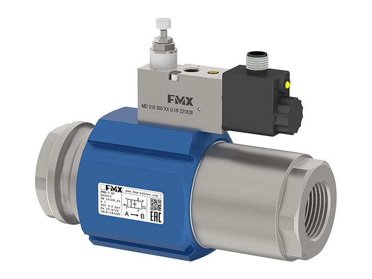 Fmx Coaxial Pneumatic Valves - 2/2 Way coaxial externally controlled FMX series