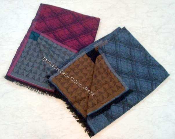 Wool Acrylic Jacquard Scarves - Wool Acrylic Jacquard Scarves