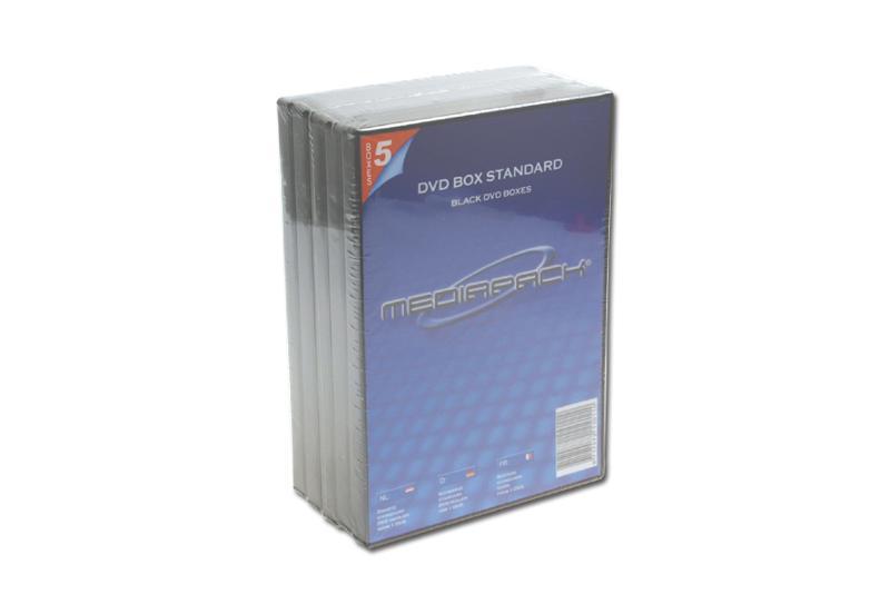 DVD Boxen 5er Pack - MPI - 14mm - schwarz - Retailverpackungen & Zubehör