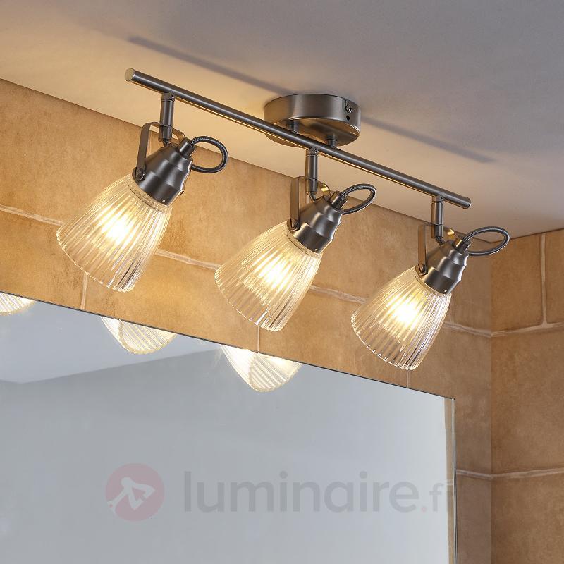 Plafonnier de salle de bain 3 lampes Kara LED G9 - Salle de bains