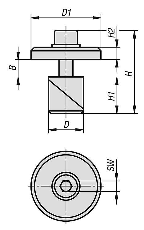 Clamping Pin, Steel Or Stainless Steel With Washer - Clamp straps Clamping devices