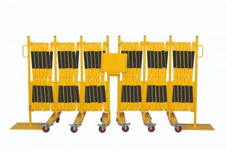 Kit 2 Pcs. Barrière Extensible Jaune-noir 8,0m - Barrières De Sécurité