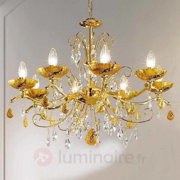 Lustre à 8 lampes Klimt CARMEN KISS - Lustres en cristal