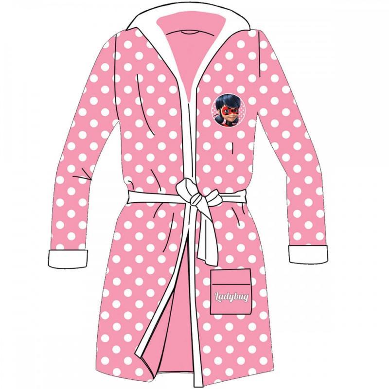 8x Peignoirs de bain LadyBug du 3 au 8 ans - Pyjama