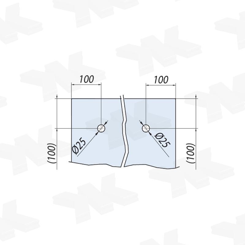 V-6450 - wall, sliding door set with soft-close - Metalglas