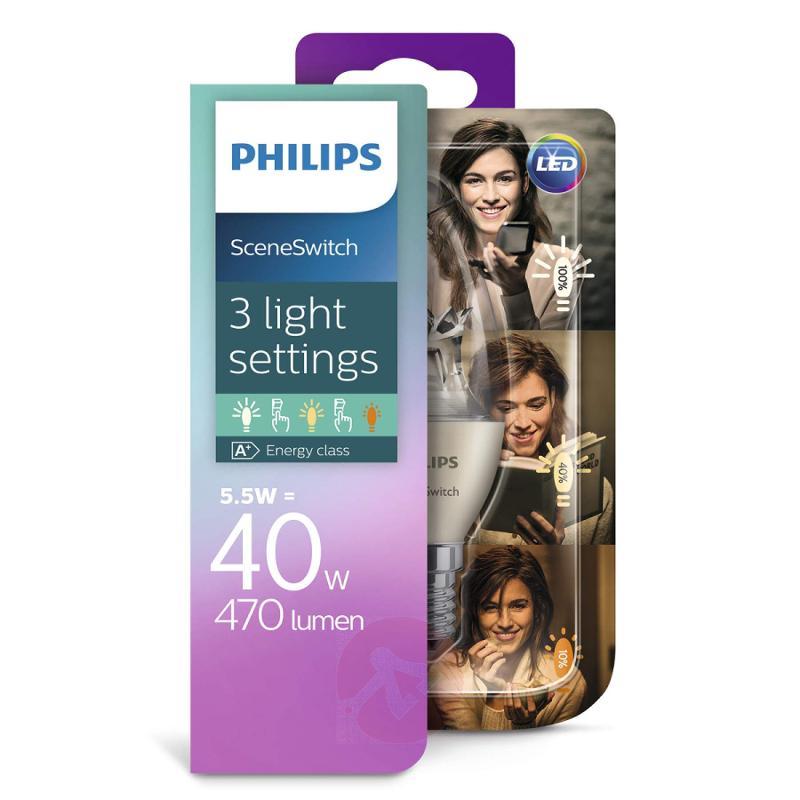 E14 5.5W 827 LED candle bulb Scene Switch - light-bulbs