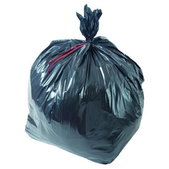 Sac poubelle noir haute densité 50L 17µ rouleau de 25... - Equipement des locaux