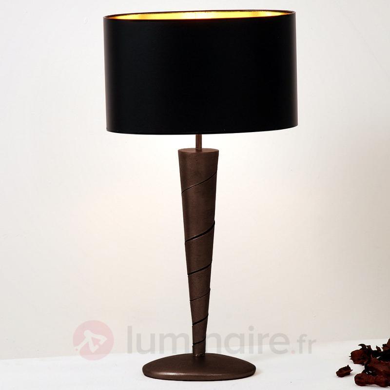 Magnifique lampe à poser INNOVAZIONE en fer - Lampes à poser en tissu