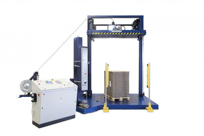 KZV-111-COMBI - Máquina flejadora de palets automática con enfardadora integrada