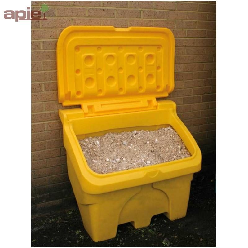"""Coffre à sel ou sable 200 L jaune - Equipements """"hiver"""""""