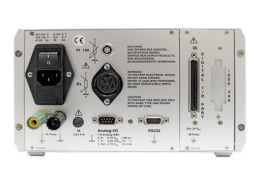 RESISTOMAT®2329 - 每秒最多50次测量和评估,RS232和PLC接口标准(IEEE 488和USB可选配),分辨率最高10 µΩ,精度为0.03%Rdg。