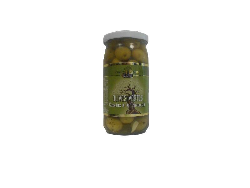 OLIVES VERTES CASSEES A LA PROVENCALE / SPLIT GREEN... - Produits oléicoles