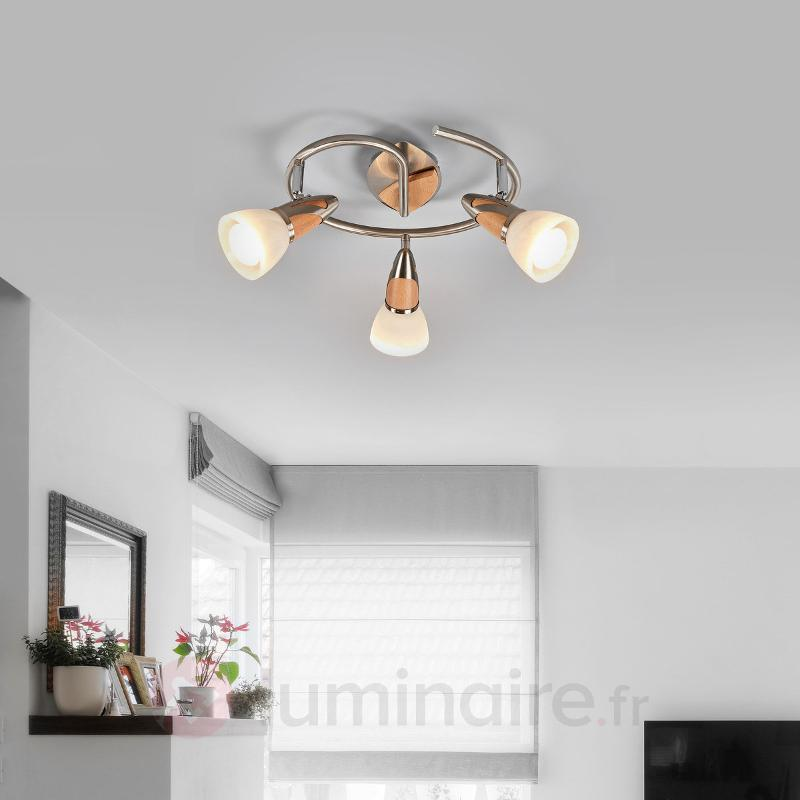 Plafonnier LED Marena à trois lampes - Plafonniers LED
