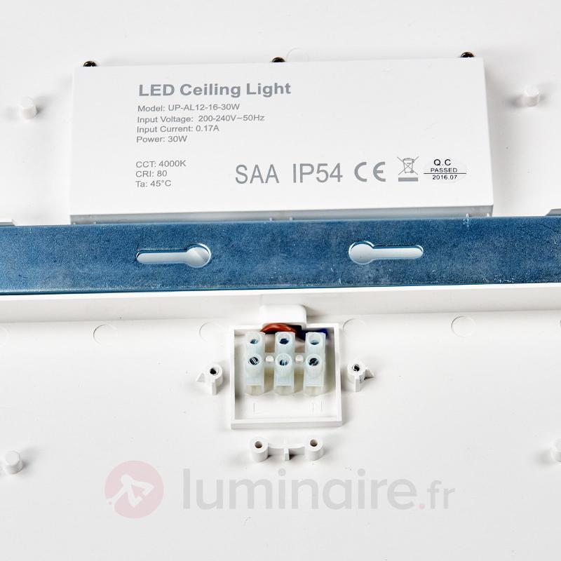 Plafonnier LED discret Augustin, IP54 40 cm - Plafonniers pour locaux humides