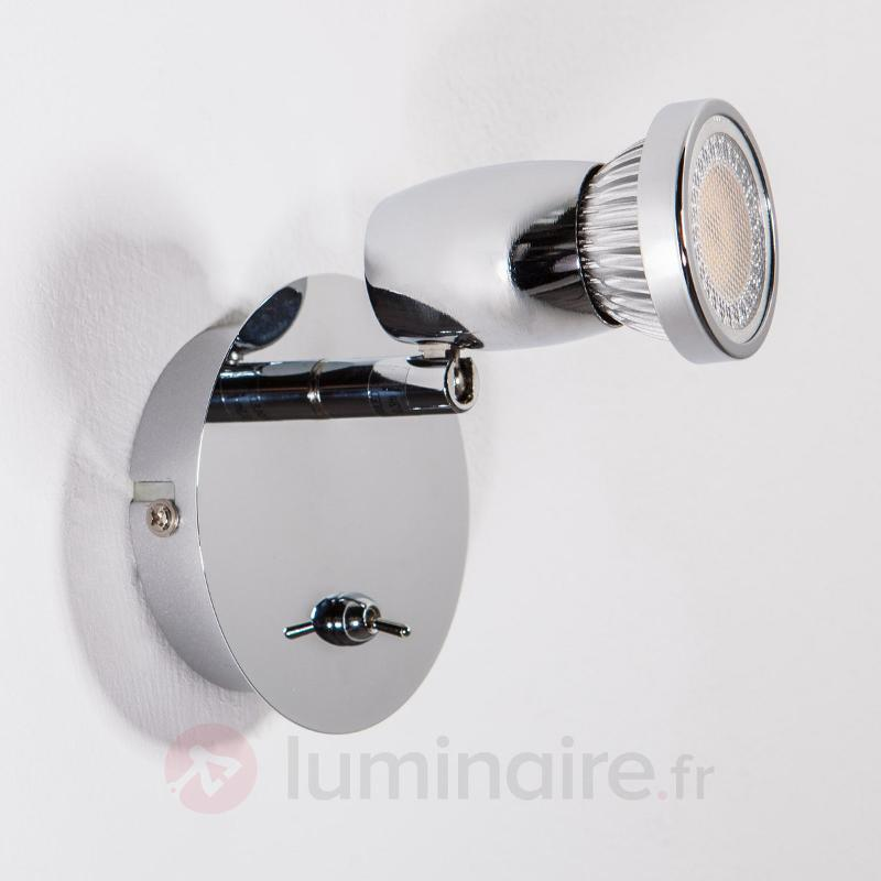 Spot LED Arminius aspect chromé brillant - Appliques LED