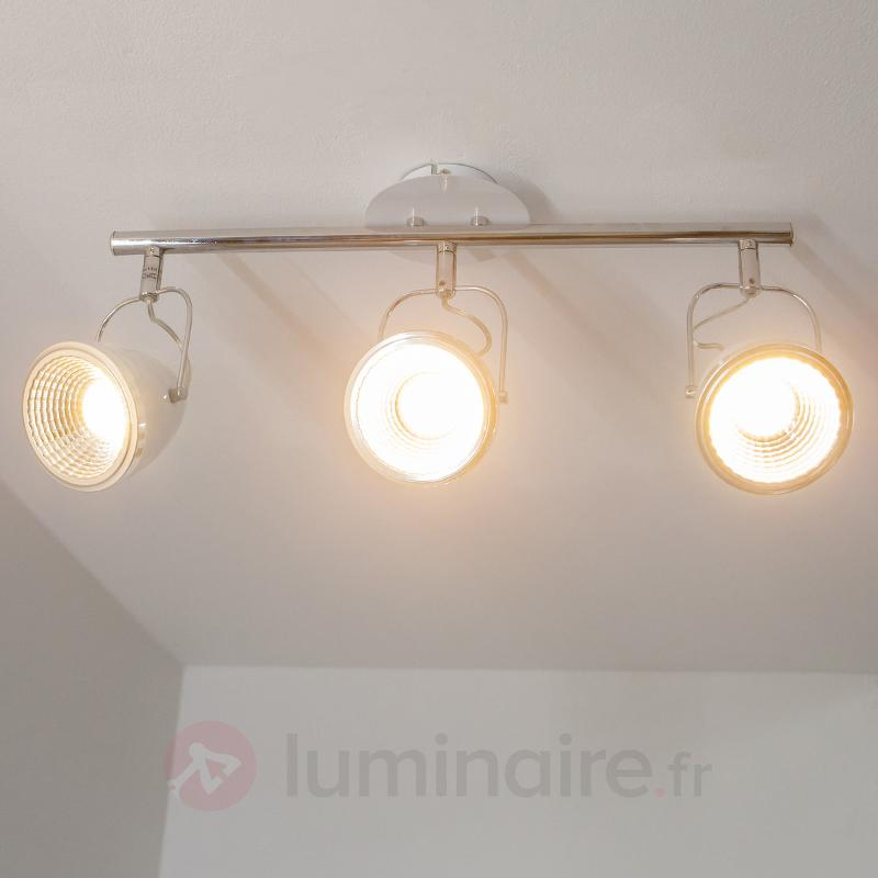 Plafonnier/spot LED 3 lampes Oliver, blanc - Plafonniers LED