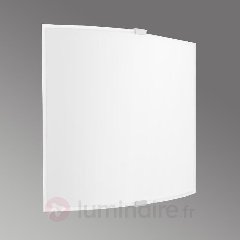 Applique LED Nonni simple et rectangulaire - Appliques en verre