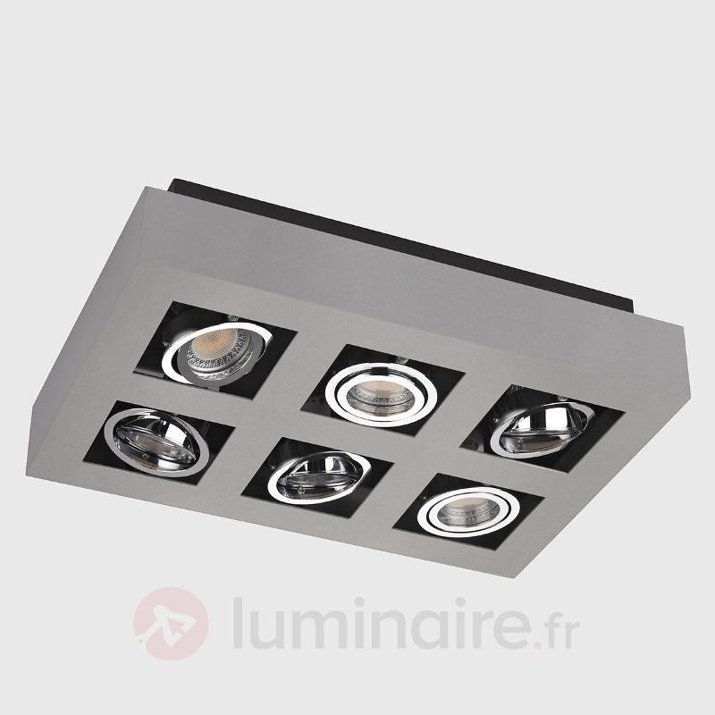 Plafonnier LED Vince à 6 lampes - Plafonniers LED