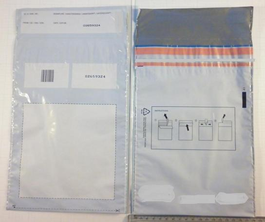 Secured envelopes or bags - Material to seal