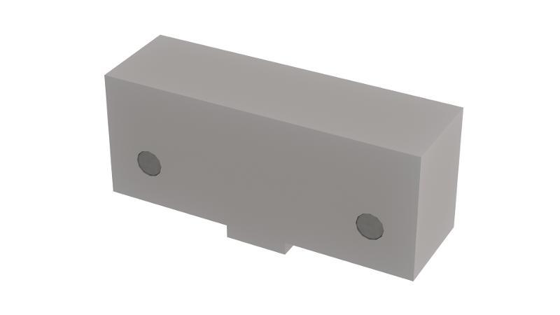 Vorsatzbacken mit Magnete – Stahl - null