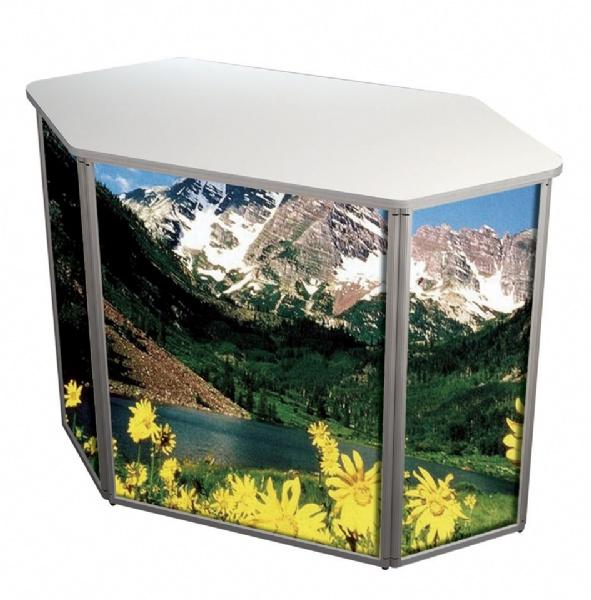Counter Displays - Pupitre d'exposition hexagonal